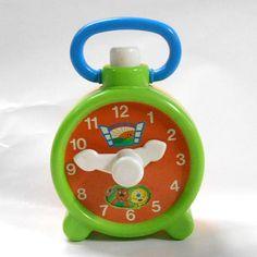 Vintage 80's Nursery baby kids toddler toy Animal Alarm