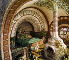 These 7 Fantasy Bedrooms Are Inspired by Wes Anderson, Peter Jackson and More St. - These 7 Fantasy Bedrooms Are Inspired by Wes Anderson, Peter Jackson and More Star Directors - - ? Fantasy Bedroom, Fantasy House, Fairytale Bedroom, Fantasy Rooms, Wes Anderson, Beautiful Architecture, Architecture Design, Casa Dos Hobbits, Design Your Bedroom