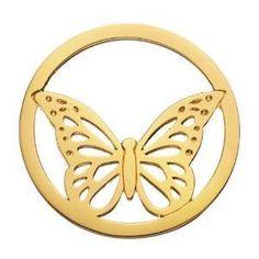 DAISY London HC2017 Damen Münze Platte Schmetterling Butterfly Halo Sterling-Silber 925 vergoldet - http://schmuckhaus.online/daisy/daisy-london-hc2017-damen-muenze-platte-halo-925