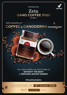 Healthy you is happy you! Zeta Gano Coffee is a unique blend of coffee beans & Ganoderma mushroom extract. For see more of fitness life images visit us on our website ! Veg Chowmein, Quote Of The Day, Arabica Coffee Beans, Coffee Benefits, Healthier You, Daily Motivation, Life Images, Healthy Habits, Stuffed Mushrooms