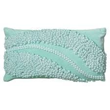 Rizzy Home Applique Waves of Fabric Knobs on Plush Solid Accent Pillow Aqua Toss Pillows, Accent Pillows, Floor Pillows, Decorative Throw Pillows, Bed Pillows, Wave Pattern, Lumbar Pillow, Pillow Covers, Home