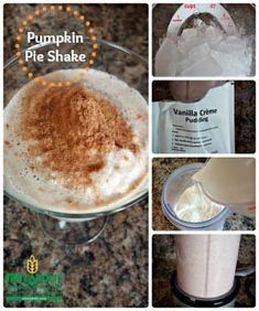 Pumpkin pie spice is the trick to this sinfully tasty pumpkin pie shake. Pumpkin pie spice is the trick to this sinfully tasty pumpkin pie shake. Healthy Recipes For Weight Loss, Healthy Foods To Eat, Healthy Snacks, Health Recipes, Eating Healthy, Easy Pumpkin Pie, Pumpkin Shake, Pumpkin Pumpkin, Pumpkin Recipes