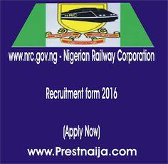 www.nrc.gov.ng - Nigerian Railway Corporation Recruitment form 2016 (Apply Now)