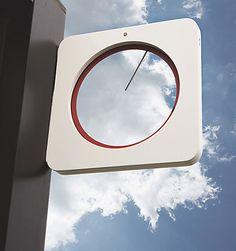 stuff i want 9 More random stuff I dont need but kinda want. Home Clock, Diy Clock, Retail Signage, Modern Clock, Wall Clock Design, Signage Design, Shop Interiors, Industrial Design, Packaging Design
