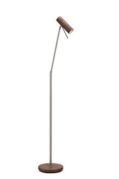 Markslöjd Gothia -lattiavalaisin. Katkaisin lampun juuressa. E14-lampunkanta halogeeni- tai LED-lampulle (ei mukana). Pituus 23,5 cm, leveys 32 cm, korkeus 143 cm.