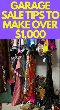 Spring cleaning and getting rid of the junk in you house can make you a ton of money. Throw a killer garage sale with these best garage sale tips to make the most money. Learn what dates and times to pick, how to set up, and what you don't want to forget. Money Tips, Money Saving Tips, Managing Money, Make More Money, Extra Money, Garage Sale Tips, Garage Sale Pricing, Frugal Living Tips, Frugal Tips