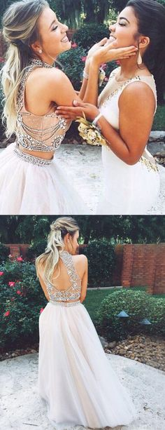 two piece prom dresses, 2 piece prom dresses, prom dresses two piece, prom dresses 2 piece, sexy prom dresses, beaded prom dresses, women's prom dresses, dresses for women, party dresses, new arrival prom dresses, prom dresses 2017, cheap prom dresses, prom dresses cheap, backless prom dresses, prom dresses backless, beautiful prom dresses