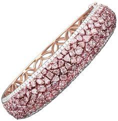 Rau Pink Diamond Bangle