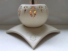 fiery+glow+candle+holder+by+nairampottery+on+Etsy,+$120.00