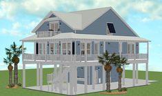 Maggies Cove - Coastal Home Plans Beach House Floor Plans, Coastal House Plans, My House Plans, Coastal Homes, Beach Homes, Beautiful Beach Houses, Dream Beach Houses, Beautiful Homes, Beach Chic Decor