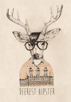 Saved by Anita Goldstein (anit). Discover more of the best Hipster, Illustrations, Day, Behance, and Deer inspiration on Designspiration Art And Illustration, Character Illustration, Illustrations Posters, Image Clipart, Art Clipart, Image Tatoo, Girl Watercolor, Hipster Art, Hipster Stuff
