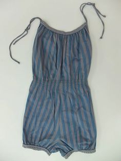 Grey and blue one piece swimsuit #W62500110