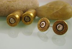 Pistol Casing Stud Earrings <3 Loves These