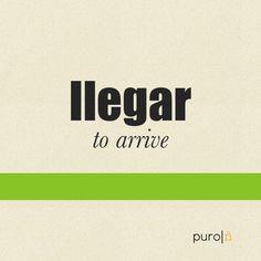 <b>Llegar</b>