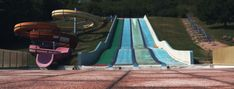 Water Slides, Outdoor Furniture, Outdoor Decor, Abandoned, Swimming Pools, Childhood, Fair Grounds, Bring It On, Memories