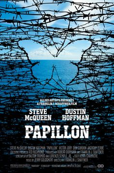 Papillon Steve McQueen at his best. Best Movie Posters, Movie Poster Art, Cool Posters, Films Cinema, Cinema Posters, Love Film, Love Movie, Great Films, Good Movies