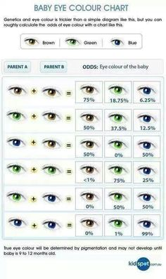 Baby eye colour chart. // Solely for writing purposes, I promise.