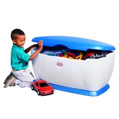 Little Tikes Giant Toy Chest with Blue Lid- Target