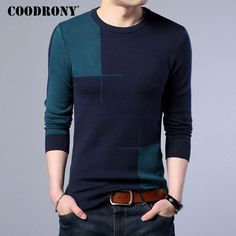 >> Click to Buy << COODRONY 2017 New Autumn Winter Thick Warm Cashmere Sweater Men Casual O-Neck Pull Homme Brand Pullovers Mens Wool Sweaters 7185 #Affiliate