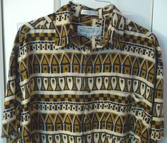 Natural Issue Hawaiian Mens Shirt Surfboard Tiki Hut  Rayon Large L Brown Black #NaturalIssue #Hawaiian