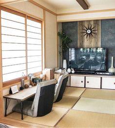 こちらは日本家屋の佇まいをいかしながら、モダンにアレンジしたお洒落な和室です。「和×北欧」のバランスが絶妙ですね!木の温もりを感じるナチュラルなインテリアも、とっても素敵です☆