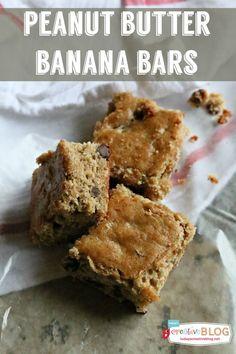 Peanut Butter Banana Bars | Simple Bar Recipe for a sweet treat! Better than Brownies | TodaysCreativeLife.com