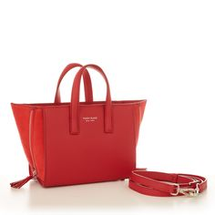 With Teddy Blake's new signature style, the Rachel handbag, elegance has never been so simple! Carefully worked by hand in Italy, this mini red calf skin bag is enhanced by the soft suede panels with zipper detailing and ta Teddy Blake Handbags, Next Bags, Designer Leather Handbags, Soft Suede, Signature Style, Color Pop, Tote Bag, My Style, Slay