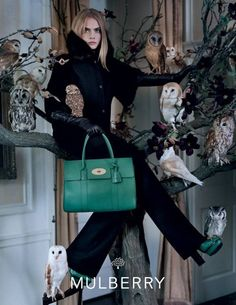 The craze of owl marketing, is irresistibly ridiculous. MULBERRY, Cara Delevingne