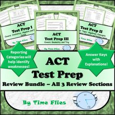 ACT - Test Prep Bundle Act Math, Math Test, Free Act Prep, Geometry Proofs, Sat Test Prep, College Test, Act Testing, Secondary Math, Blended Learning