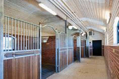 Train Your Own Olympics Dressage Team on This Swedish Horse Farm Equestrian Stables, Horse Stables, Horse Barns, Horse Tack, Dream Stables, Dream Barn, My Dream Home, Farm Gardens, Behr