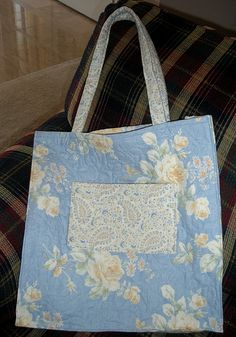 Pre-Quilted Small Tote Bag