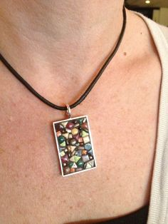 Mosaic necklace.