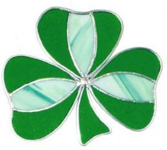 Duo colored stained glass shamrock