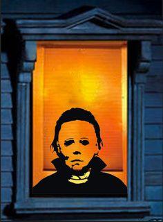 Super Creepy Michael Myers Halloween inspired Decal - Window, Car, Garage Holiday Decor