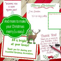 I love how many Christmas printables you can find in this packet! Talk about making my life easier.