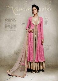 Silk Fabric Designer Anarkali Suit From The Exclusive Nakkashi Collection