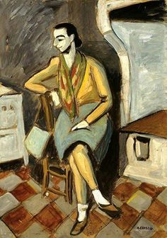 Auguste Chabaud - Femme assise, c. 1920.