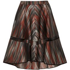 Ostwald Helgason Metallic jacquard skirt (€195) ❤ liked on Polyvore featuring skirts, brick, brown skirt, ostwald helgason, knee high skirts, panel skirt and brown knee length skirt