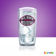 Football fandom is growing thanks to the ladies. Express your true love for the best game in America with this simple, straightforward and awesome Tervis design made just for game days!