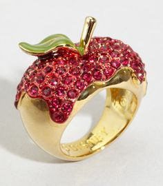 "Disney Couture ""one bite"" apple ring at Fred Flare"