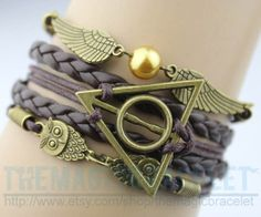 Owl snitch & harry potter charm bracelet in by themagicbracelet, $5.59