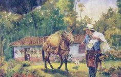 South American Art, Figure Painting, Decoupage, Nostalgia, Watercolor, Comics, Texture, Artwork, Character