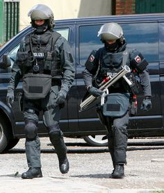 members of one of Germany's police special units SEK MEK GSG9 ZUZ