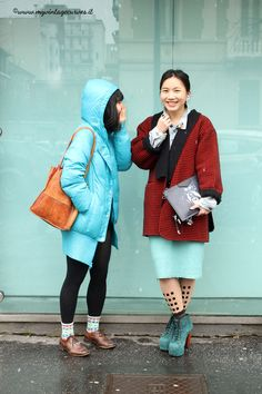 Asian girls street style milan fashion week