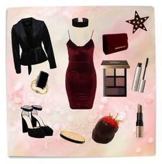 """""""red as hell"""" by laluna7 ❤ liked on Polyvore featuring Glamorous, Miss Selfridge, VILA, Jimmy Choo, Bobbi Brown Cosmetics, Ilia, Effy Jewelry and Halcyon Days"""
