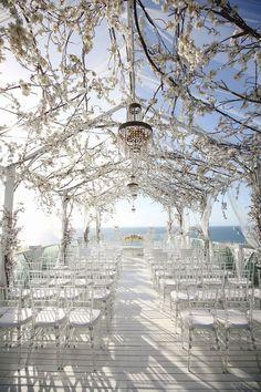60 Floral Spring Wedding Ideas- Decor & Details For Weddings & Events images Magical Wedding, Fantasy Wedding, Dream Wedding, Glamorous Wedding, Beautiful Wedding Venues, Gothic Wedding, Romantic Weddings, Spring Wedding, Boho Wedding