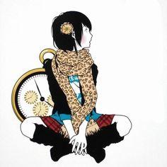 カスヤナガトさんのイラストは、中村佑介さんと似ているテイスト♡