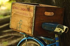 How to: Turn a Vintage Beverage Box into an Upcycled Bicycle Crate