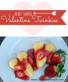 Love these heart-shaped Twinkies! Such a cute idea!