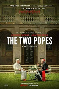An intimate story of one of the most dramatic transitions of power in the last years. Frustrated with the direction of the church, Cardinal Bergoglio (Jonathan Pryce) requests permission to retire in 2012 from Pope Benedict (Anthony Hopkins). Good Movies On Netflix, Top Movies, Movies To Watch, Movies Online, Movies And Tv Shows, Rent Movies, 2020 Movies, Movies Free, Anthony Hopkins
